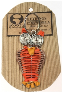 Telephone Wire Keychain - OWL