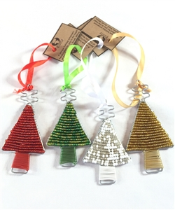 Beaded tree ornament - small  - OUT OF STOCK
