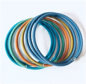 Spiral Color Block Bracelet Large - Edible