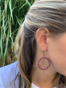 <!004> Spiral Earrings Chunky  - Brandy Snaps