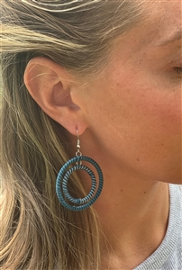 Striped Hoop Earring - Blues OUT OF STOCK