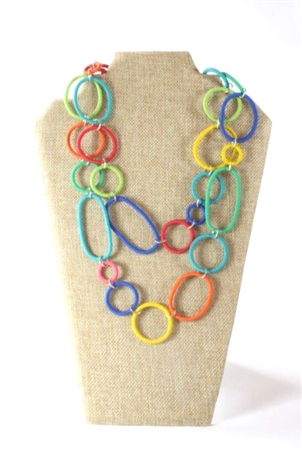 Spiral Ring Necklace Long - Multi out of stock