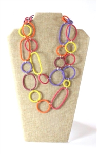 Spiral Ring Necklace Long - Passion Fruit