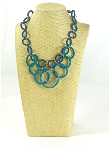 Ring Necklace Short - Deep Ocean OUT OF STOCK