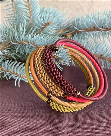 Spiral Bracelet - Dried Leaves