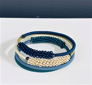 Spiral Bracelets - Winter Blue