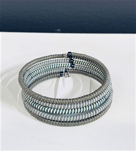 Spiral Bracelet Striped - Winter Blue