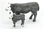 BLACK BALDY COW & CALF