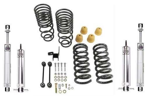 Belltech 2/4 Drop Kit w/ Viking Double Adjustable Shocks 09-18 Ram 1500 2WD  Quad/Crew Cab