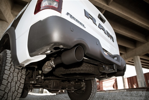 Ram 1500 Exhaust >> Carven Competitor Direct Fit Muffler Kit W 5 Black Tips 09 Up Ram 1500 5 7l Hemi