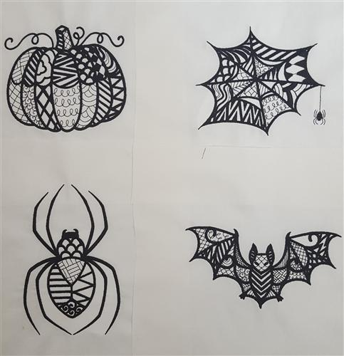 Halloween Zentangles
