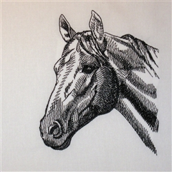 Thoroughbred Horse Head