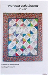 On Point with Charms Quilt Pattern - by Nancy Murtie for King's Treasures