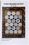 Starry Hexagon Lap Quilt Pattern - by Nancy Murtie for King's Treasures