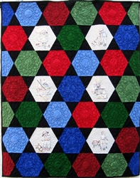 Dick and Jane Baby Hexagon - Baby Quilt Kit
