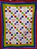 Nursery Rhymes - Rainbow nine-patch - Baby Quilt Kit