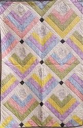 Animals in the Rain - Tipped Blocks for Baby - Baby Quilt Kit