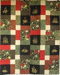 Golden Christmas Lap - Christmas Candles - Lap Quilt Kit