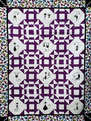 Slinky Cats - Turn Dash Pattern - Lap Quilt Kit