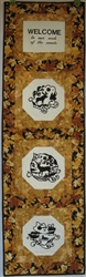 Quilt with a Message - Wildlife - Small Long Wall Hanging Kit