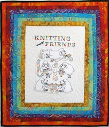Knitting with Friends - Small Wall Hanging Kit
