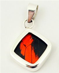 Square Butterfly Wing Pendants