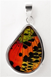 Teardrop Butterfly Wing Pendants