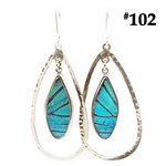 "real butterfly wing ""halo"" earring"
