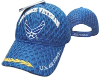 Air Force Veteran Military Cap Blue Mesh