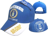 Air Force Veteran Military Cap Blue Retired