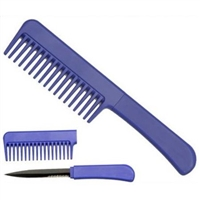 Hidden Knife Comb Blue