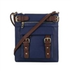 Concealed Carry Lock and Key Crossbody Handbag: Blue