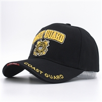 Coast Guard Cap Black
