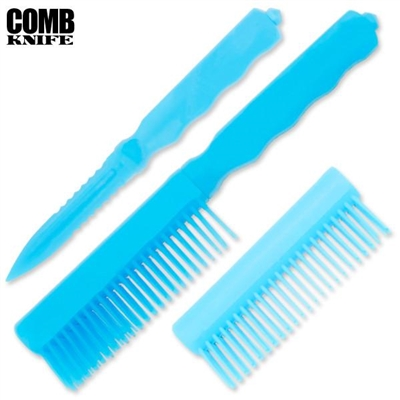 Comb Knife Hidden ABS Plastic: Blue