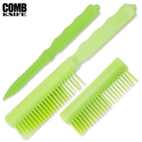 Comb Knife Hidden ABS Plastic: Green