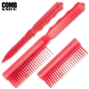 Comb Knife Hidden ABS Plastic: Red