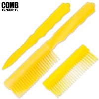 Comb Knife Hidden ABS Plastic: Yellow