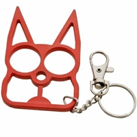 Kitty Cat Self Defense Keychains: Red