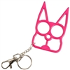 Kitty Cat Self Defense Keychains: Hot Pink