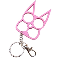 Kitty Cat Self Defense Keychains: Light Pink