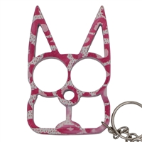 Kitty Cat Self Defense Keychains: Pink Camo