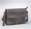 GTM/CZY-22 DISTRESSED BUFFALO LEATHER SHOULDER CLUTCH