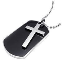 Dog Tag with Cross