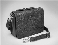GTM-15 CROSS BODY CONCEALED CARRY ORGANIZER - BLACK LAMBSKIN
