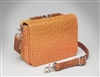 GTM-15 CROSS BODY CONCEALED CARRY ORGANIZER - ORANGE OSTRICH DEBOSSED
