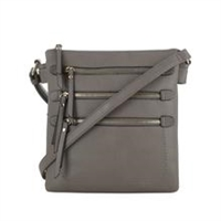 Multi-Pocket Concealed Carry Lock and Key Crossbody Gray