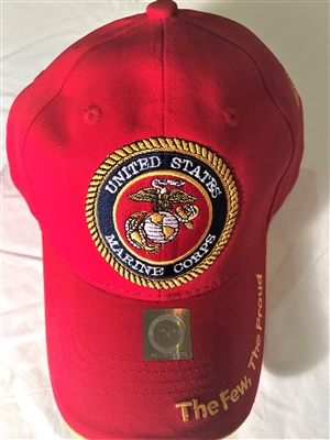Marine Retired Baseball Cap Red
