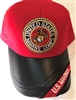 Marine Retired Baseball Cap Red and Black