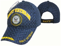 Navy Veteran Mesh Baseball Cap Blue