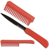 Hidden Knife Comb Red